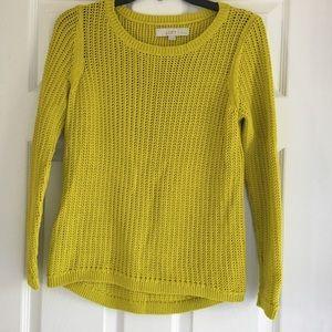 Loft Women's Yellow Green Knit Sweater- SZ SP